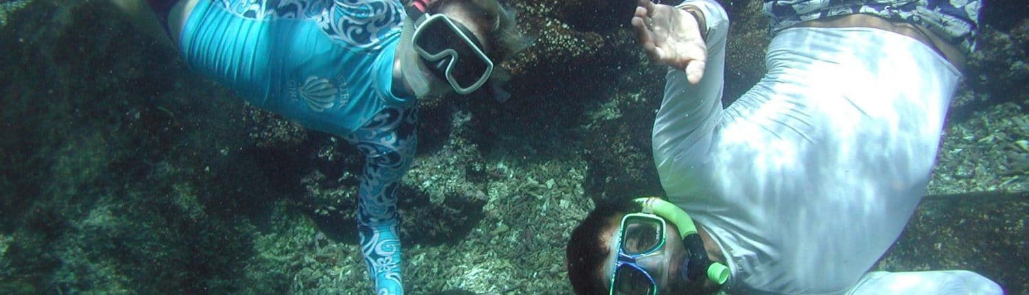 Two people snorkelling in Riviera Nayarit Mexico