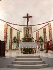 Church altar in Las Varas Riviera Nayarit Mexico