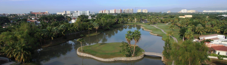 Aerial view of El Tigre Golf Course Nuevo Vallarta in Riviera Nayarit Mexico