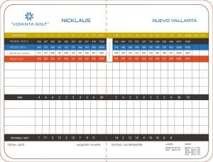 El Nayar Golf Course Score Card - Jack Nicklaus Vidanta Golf in Nuevo Vallarta Riviera Nayarit Mexico