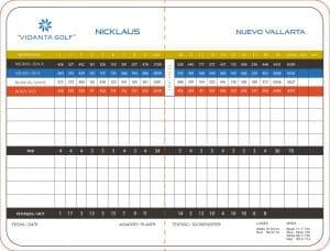 El Nayar Golf Course Score Card - Jack Nicklaus Vidanta Golf in Nuevo Vallarta Riviera Nayarit Mexico