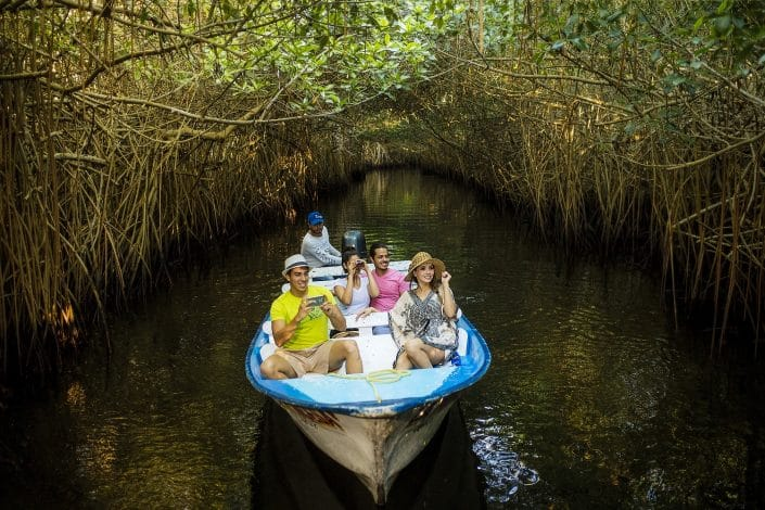 Birdwatching in Riviera Nayarit Mexico - image of 2 couples in a boat birdwatching