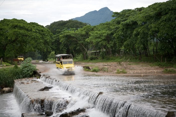 Outdoor Adventures in Riviera Nayarit Mexico - image of all terrain vehicle crossing a stream