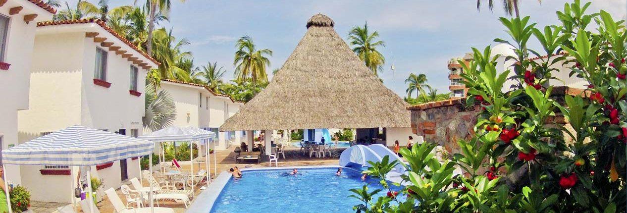 Pool at Bungalows Princess hotel in Bucerias Riviera Nayarit Mexico