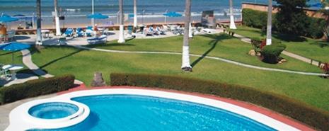 Pool at Hotel Casa Mañana in San Blas Riviera Nayarit Mexico