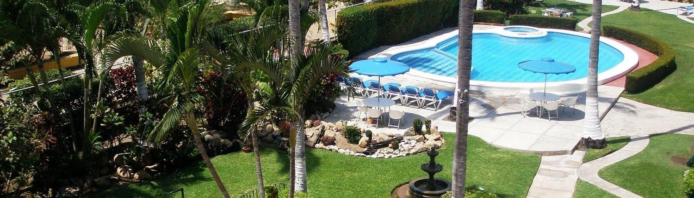 Pool at Anai Suites hotel in Rincon de Guayabitos Riviera Nayarit Mexico