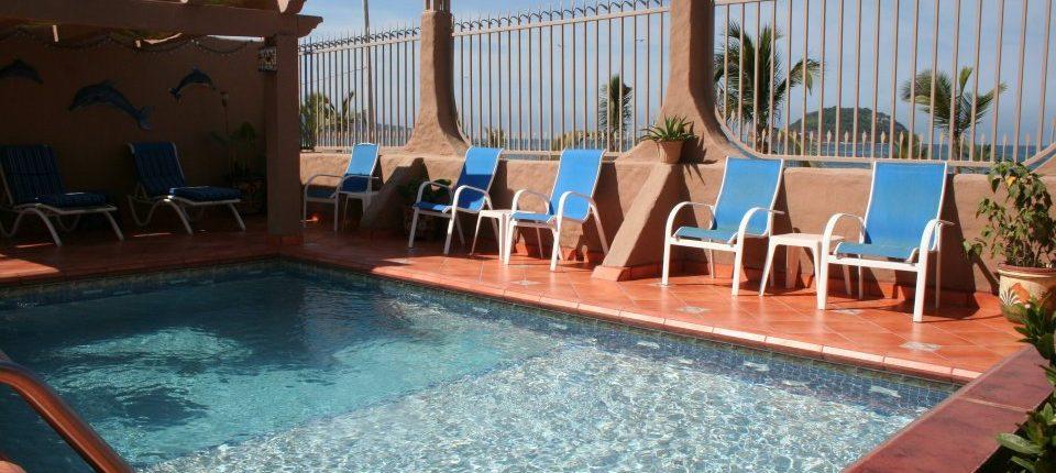 Pool at Casita de la Penita hotel in Rincon de Guayabitos Riviera Nayarit Mexico