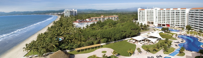 Aerial view of pools at Dreams Villamagna hotel in Nuevo Vallarta Riviera Nayarit Mexico