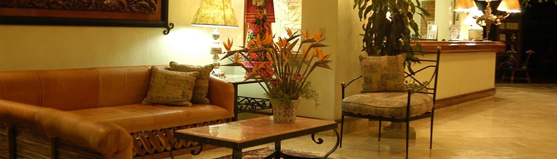Lobby of Garza Canela hotel in San Blas Riviera Nayarit Mexico