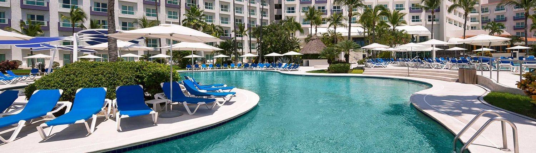 View from pool at Hard Rock Hotel in Nuevo Vallarta Riviera Nayarit Mexico