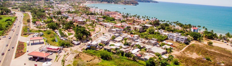 Aerial view of Hotel Chalimar in Rincon de Guayabitos - Riviera Nayarit Mexico
