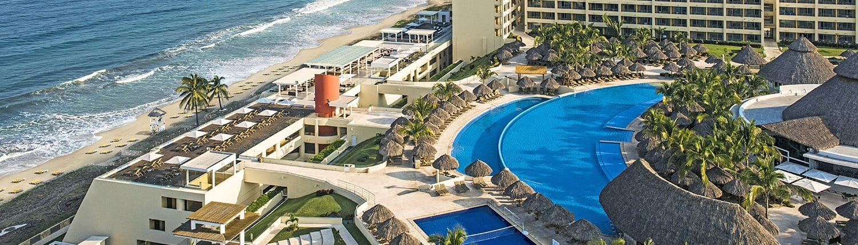 Pool and beach at Iberostar Playa Mita hotel in Litibu Riviera Nayarit Mexico