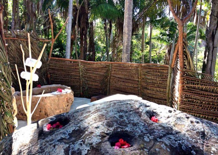 Outdoor Spa retreat at Imanta Resort Hotel in Punta de Mita Riviera Nayarit Mexico