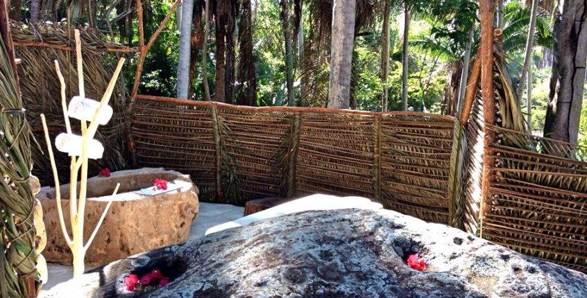 Outdoor Spa retreat at Imanta Resort Hotel in Punta de Mita Riviera Nayarit Mexico