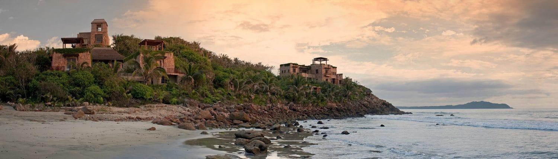 View from the beach of Imanta Resort Punta de Mita in Riviera Nayarit Mexico
