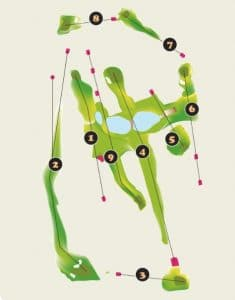 Las Huertas Golf Course Layout - Riviera Nayarit Mexico
