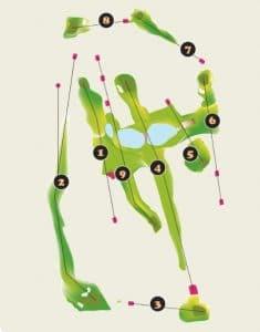 Las Huertas Golf Course Layout - Riviera Nayarit Mexico