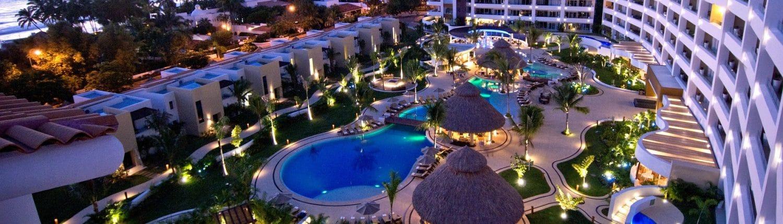 Aerial view of Marival Residences Luxury Resort in Nuevo Vallarta Riviera Nayarit Mexico