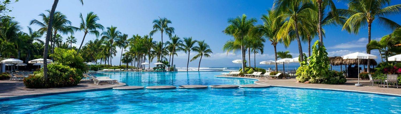 Pool at Mayan Palace hotel in Nuevo Vallarta Riviera Nayarit Mexico