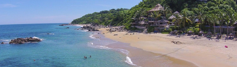 Beach at Playa Escondida hotel in Sayulita Riviera Nayarit Mexico