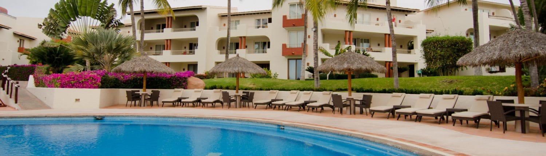 Pool at Rancho Banderas hotel in Destiladeras Riviera Nayarit Mexico