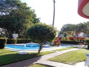 Pool at Vacacional Titos Hotel in Rincon de Guayabitos Riviera Nayarit Mexico
