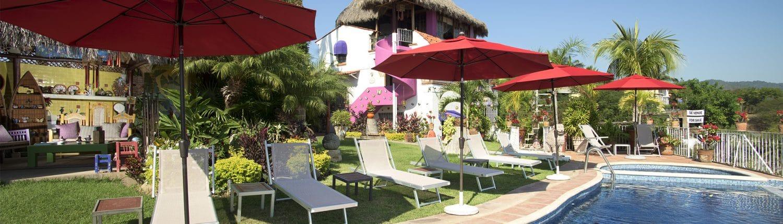 Pool at Villa Bella Hotel in La Cruz de Huanacaxtle Riviera Nayarit Mexico