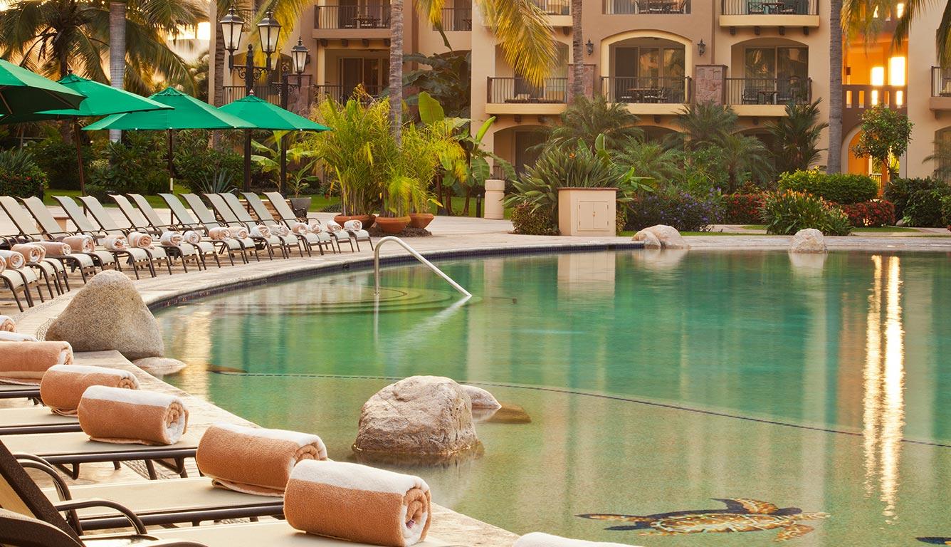 Pool at Villa del Palmar Flamingos Hotel in Bucerias Riviera Nayarit Mexico