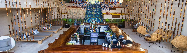 Lobby of W Hotel in Punta de Mita Riviera Nayarit Mexico