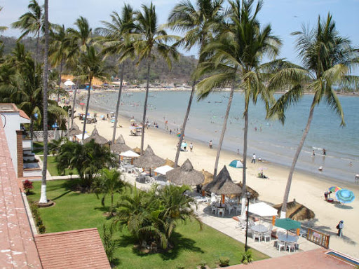 View of beach from Costa Alegre Hotel Suites in Guayabitos Riviera Nayarit Mexico