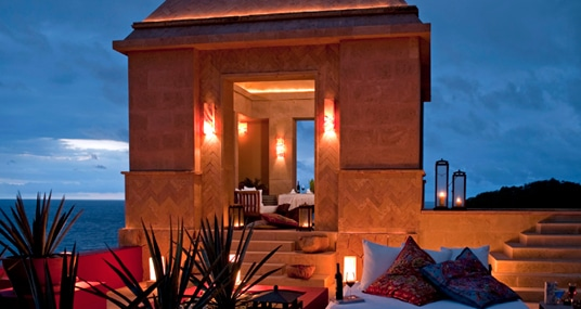 Terrace dining at Imanta Resort in Punta de Mita Riviera Nayarit Mexico