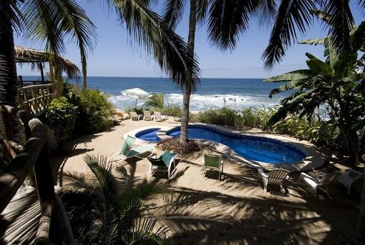 Pool at Playa Escondida Hotel in Sayulita Riviera Nayarit Mexico