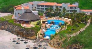 Aerial view of Rancho Banderas Hotel in Destiladeras Riviera Nayarit Mexico