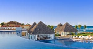 Infinity pool at St Regis Punta Mita Resort Hotel in Riviera Nayarit Mexico