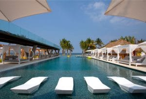 Pool at W Hotel Punta Mita in Riviera Nayarit Mexico