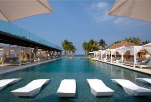 Pool at W Hotel Punta Mita in Riviera Nayarit Mexico