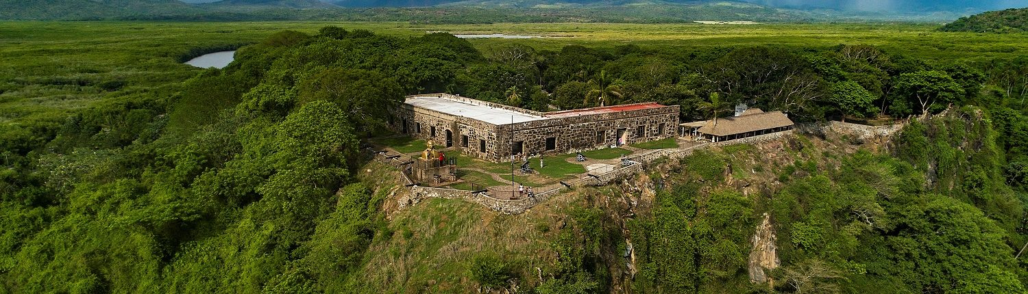 Fortress surrounded by rainforests in San Blas Riviera Nayarit Mexico