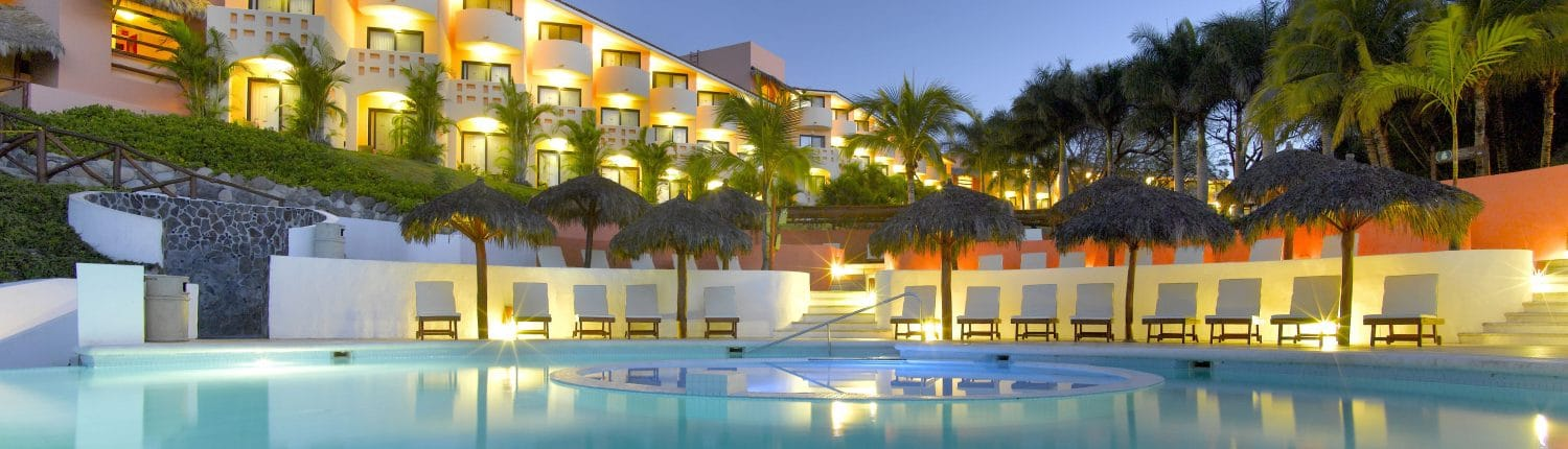 View from pool of Grand Palladium Hotel in Punta de Mita Riviera Nayarit Mexico