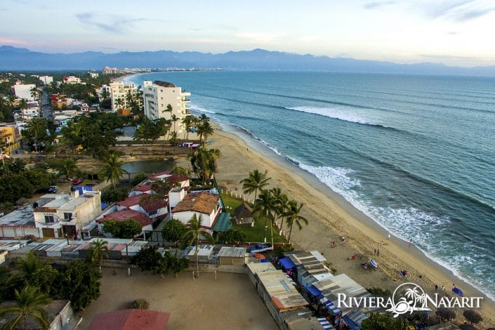 Miles of beachfront in Bucerias Riviera Nayarit Mexico