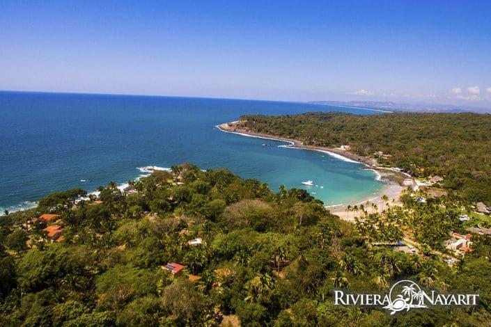Beach lagoon at Chacala in Riviera Nayarit Mexico