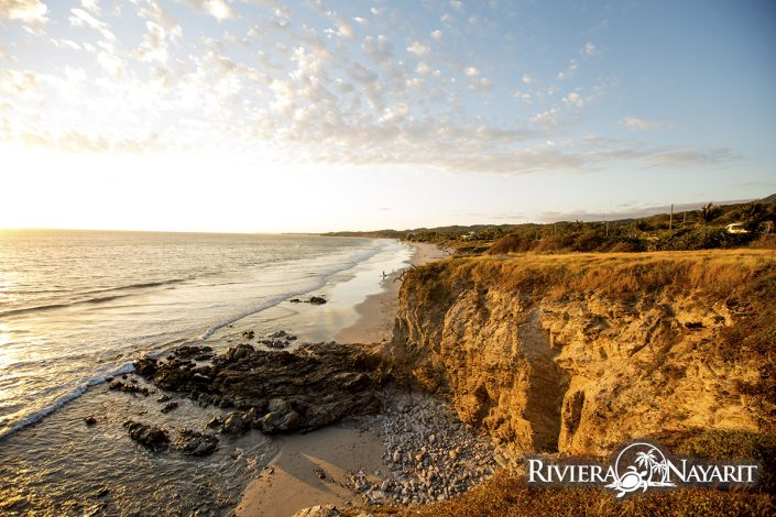 Miles of beachfront near Destiladeras in Riviera Nayarit Mexico