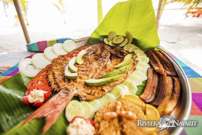 Gastronomy in Riviera Nayarit Mexico - image of fish plate