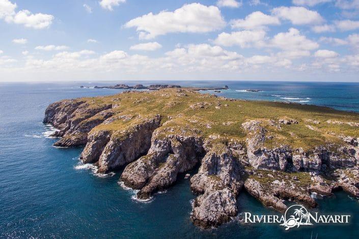 Aerial view of Islas Marietas in Riviera Nayarit Mexico