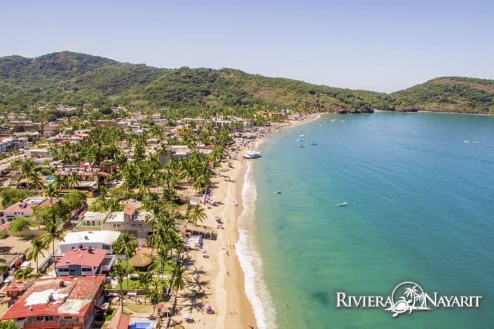 Los Ayala beach in Riviera Nayarit Mexico