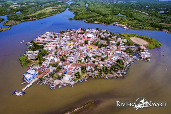 Mexcalitan Island Riviera Nayarit Mexico - view from above