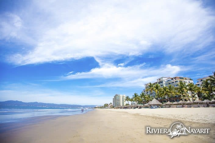Miles of sandy beach in Nuevo Vallarta Riviera Nayarit Mexico