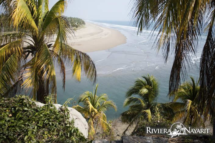 Lagoon beach in Punta Custodio Riviera Nayarit Mexico