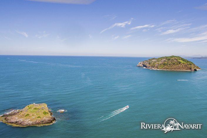 2 islands off the coast of Rincon de Guayabitos in Riviera Nayarit Mexico