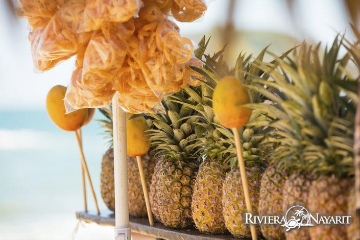 Gastronomy in Rincon de Guayabitos Riviera Nayarit Mexico - pineapples for sale
