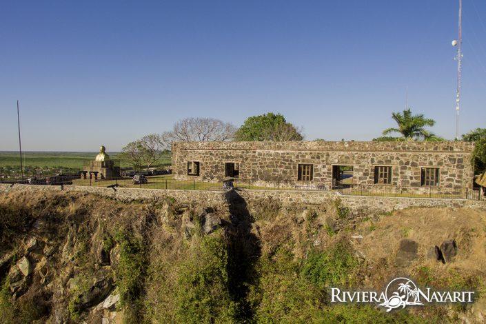 Ruins with monument in San Blas Riviera Nayarit Mexico